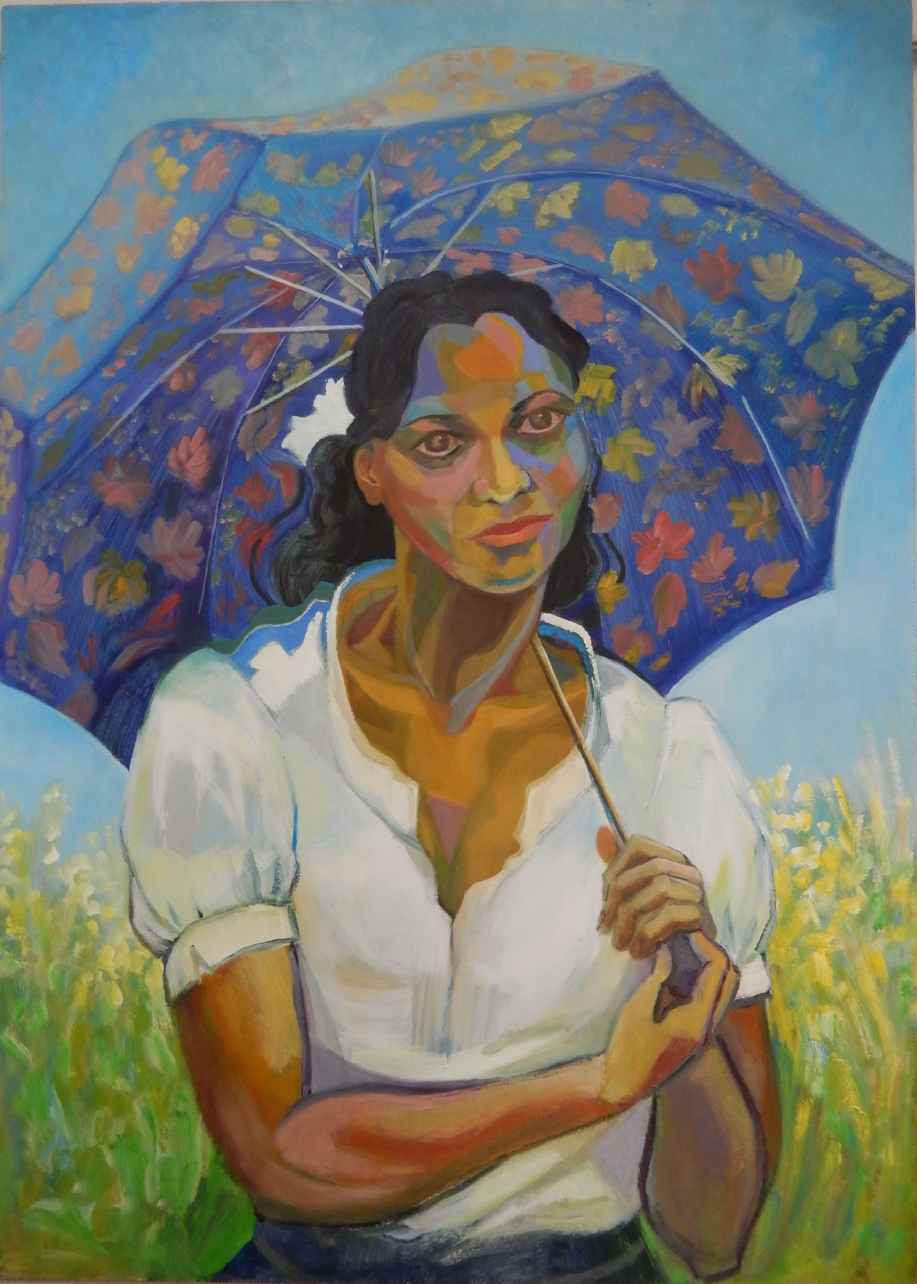 790 Mauritiaans met parasol