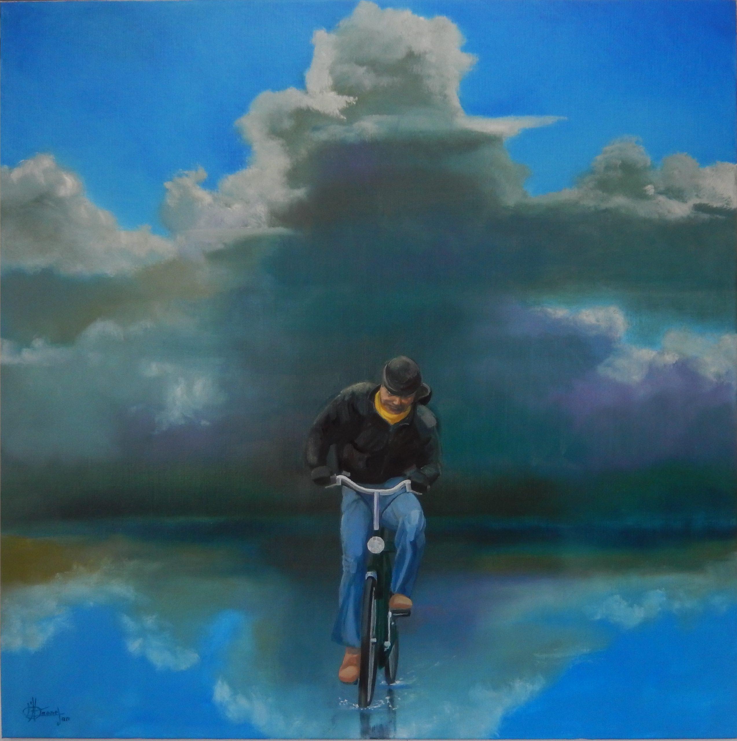 803 eenzame fietser