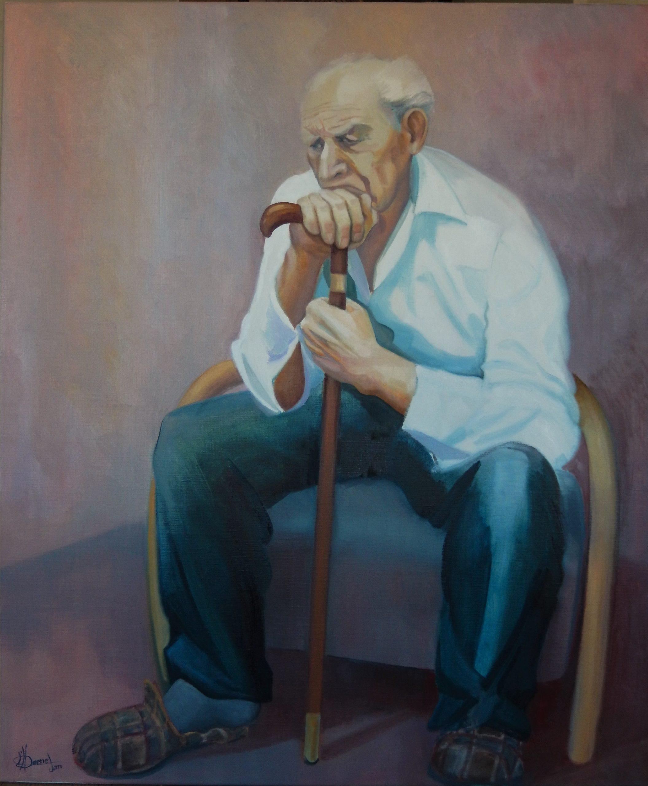 805 eenzame oude man