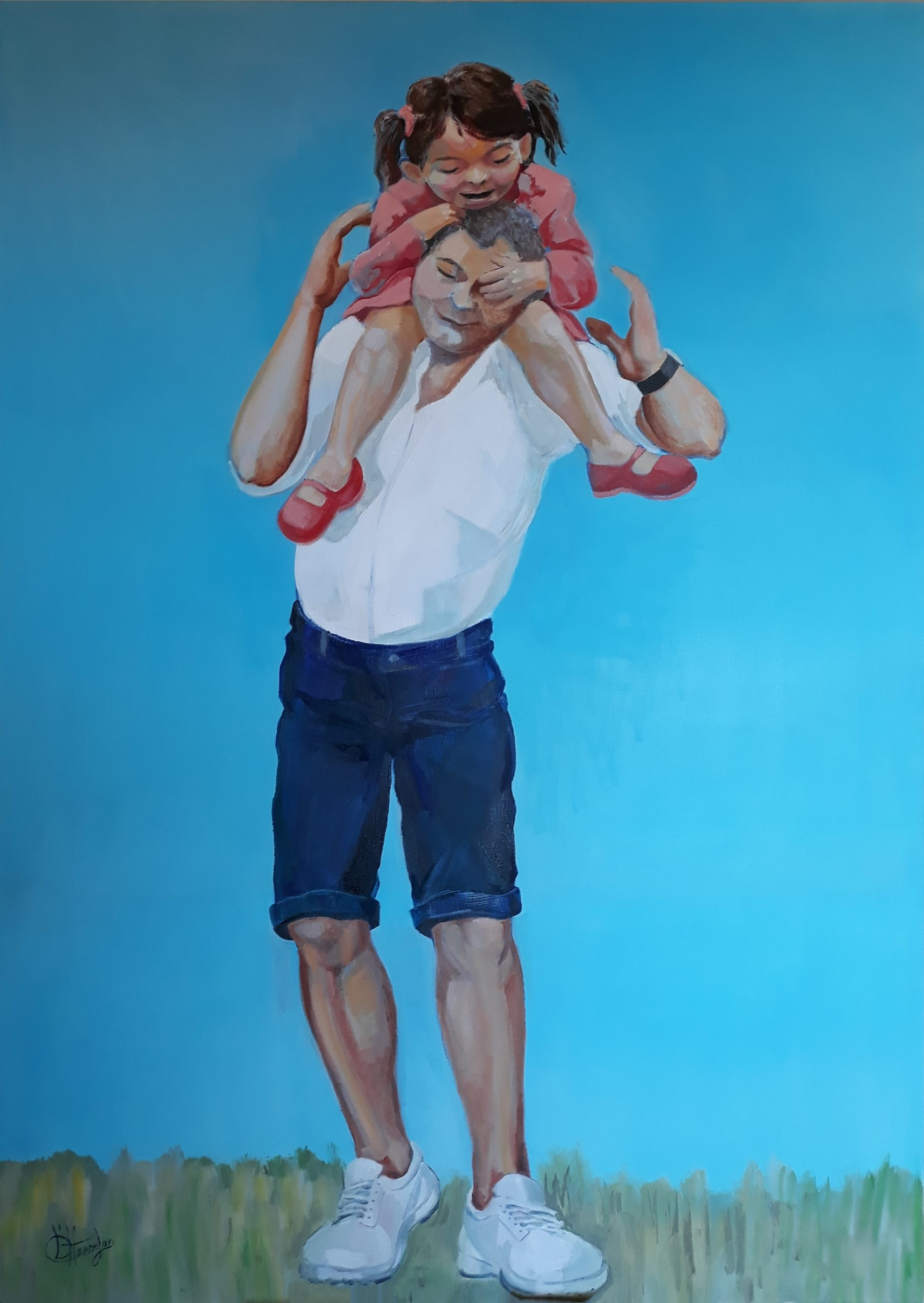 871 op vader's schouders 140 x 100