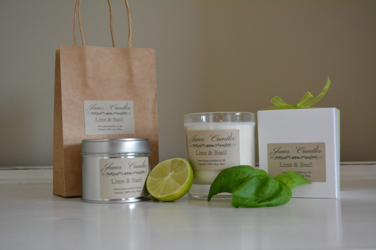 Lime & Basil Candles