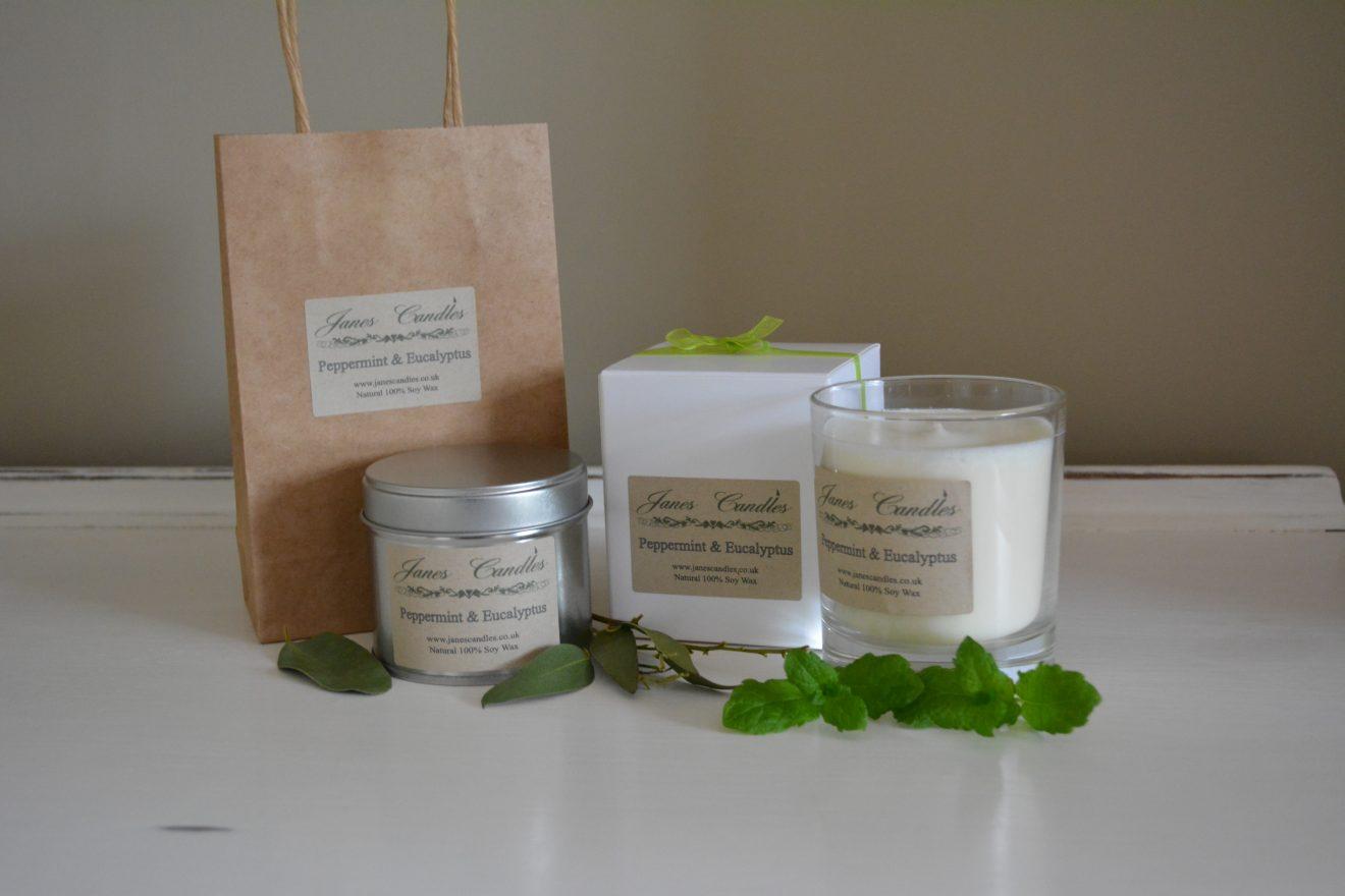 Peppermint & Eucalyptus Candles