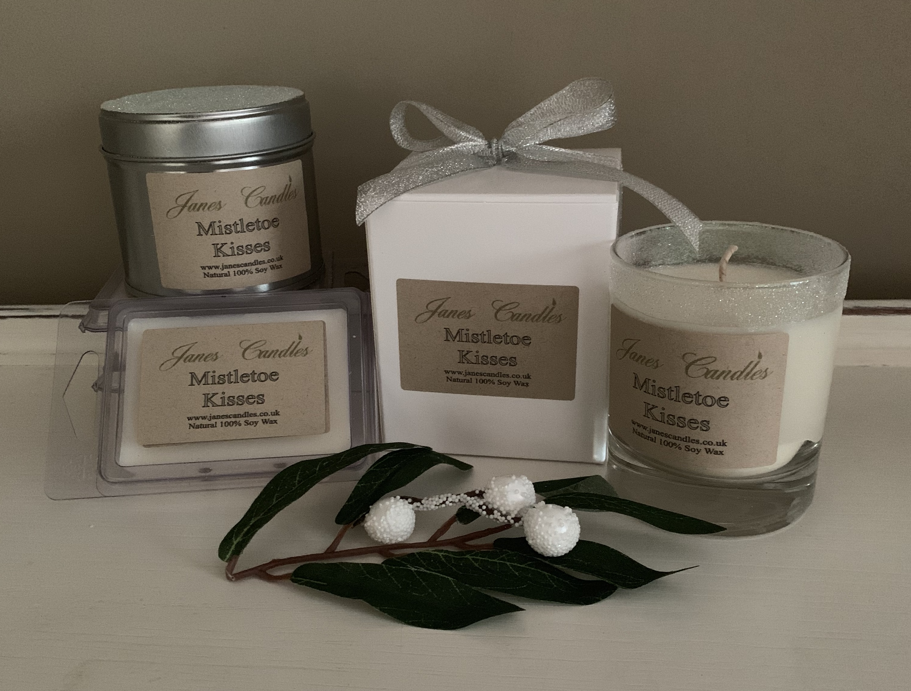 Mistletoe Kisses Candles