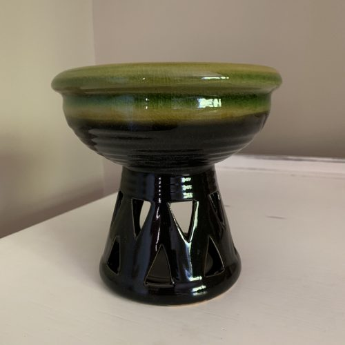Green deep wax melter oil burner