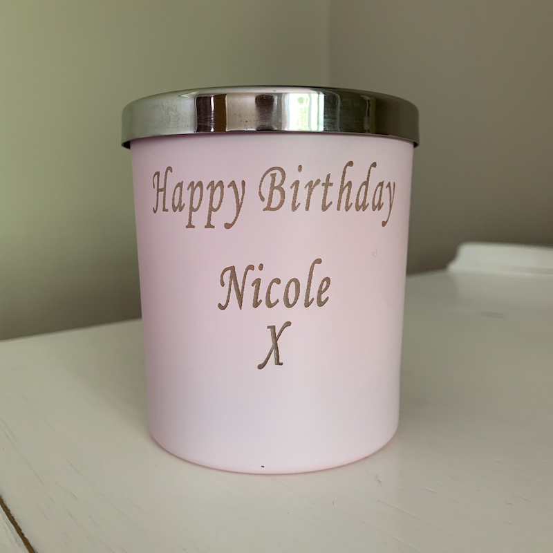 Happy Birthday Personalised candle