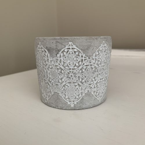 Grey pattern candle holder