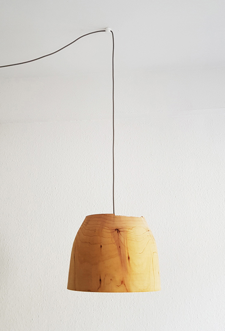 MARINA Lampenschirm aus Zedernholz | Jan Tesche | Möbelunikate & Objekte