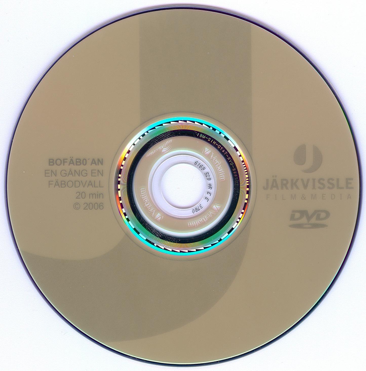 DVD-skivans etikett