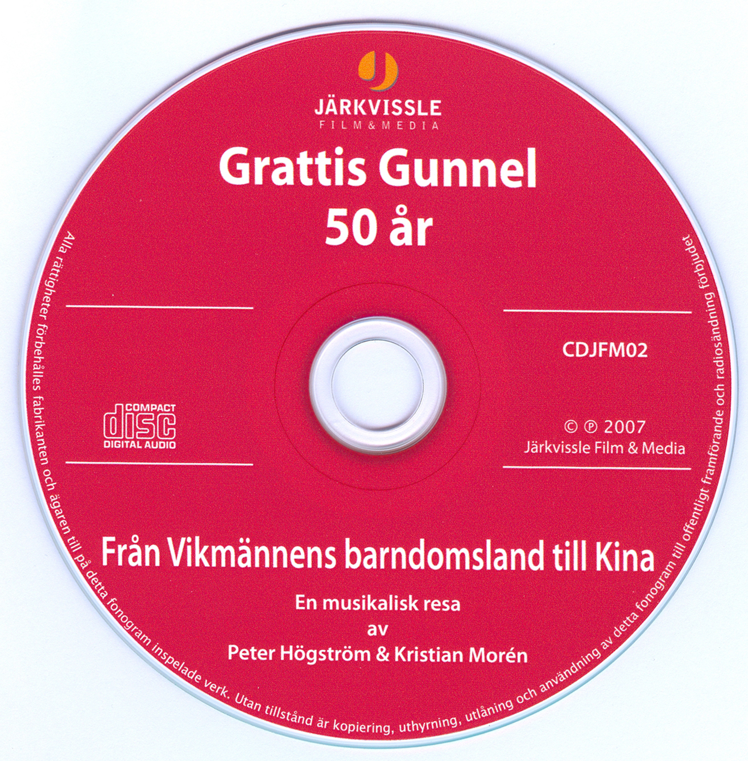 Skivettikett CD