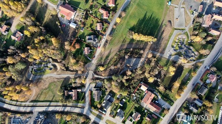 Järvsö Skillspark sett från ovan (P2 till vänster)