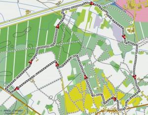 GPX coordinaten van wandeling Achterbos-Zelm