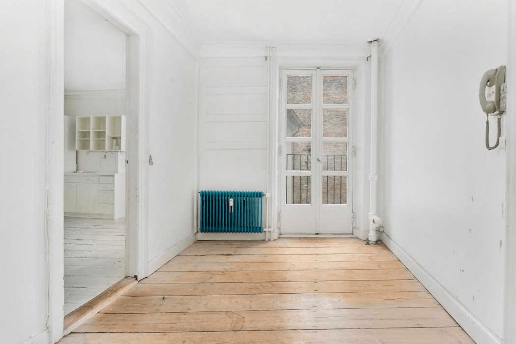 renovering af fredet ejendom Fiolstræde kontor før