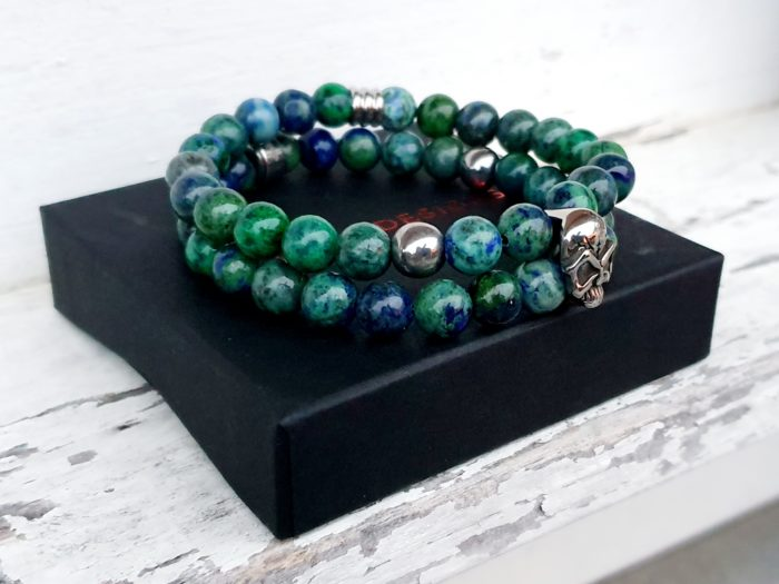 Stoer skull armband. Roestvrijstaal