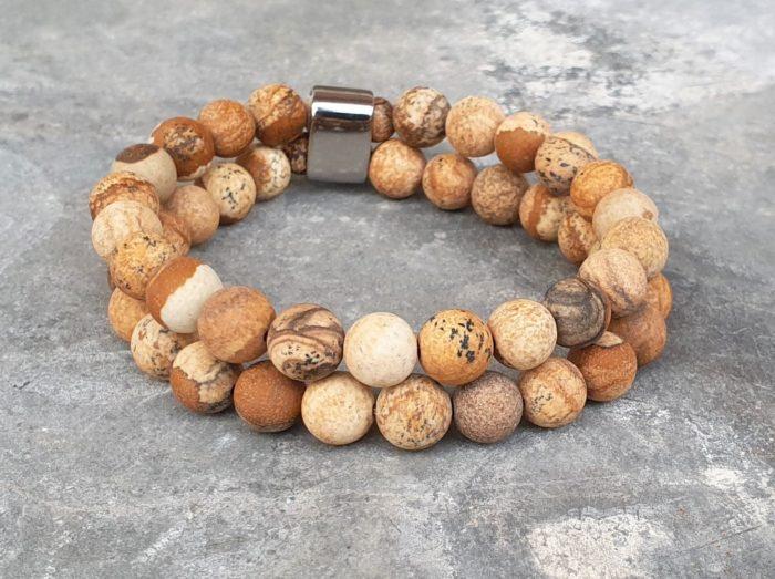 Basis-basic natuurstenen armband dames/heren