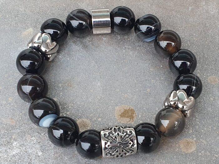 Zwart natuursteen & stainless steel