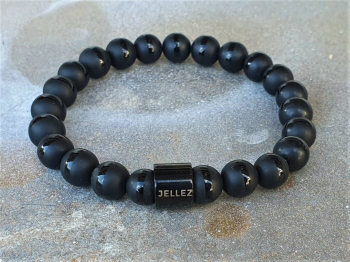 Zwart natuurstenen armband