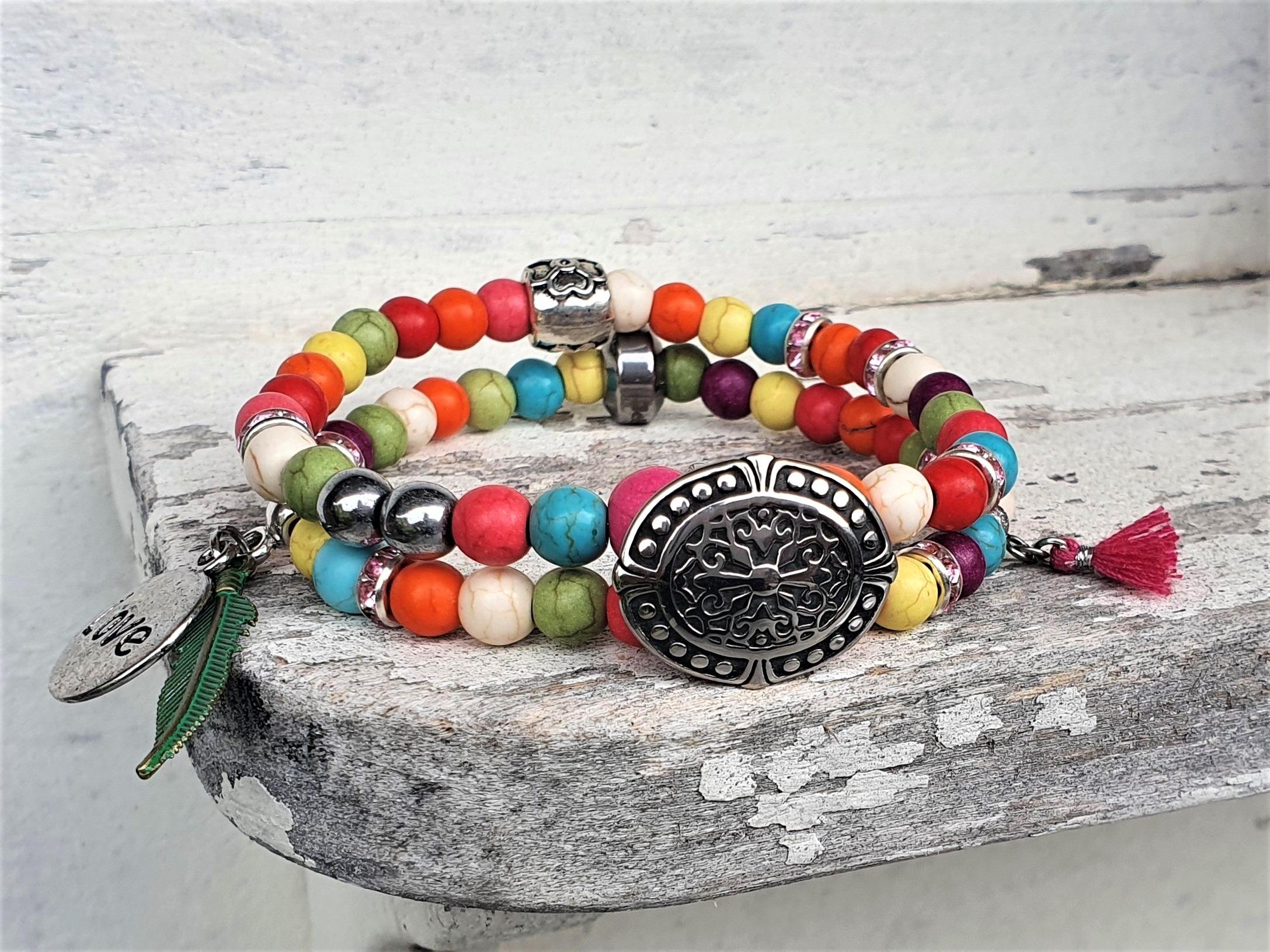 Kleurrijk Ibiza armband