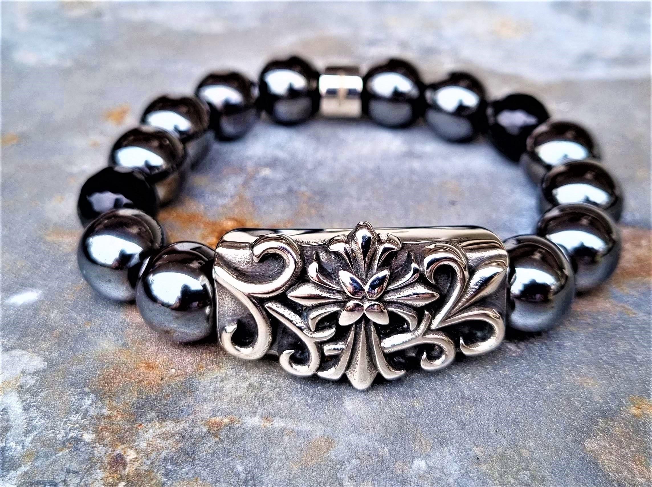 Uniek natuurstenen armband heren-dames