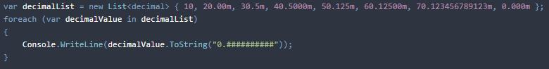 C# display decimal without trailing zeros
