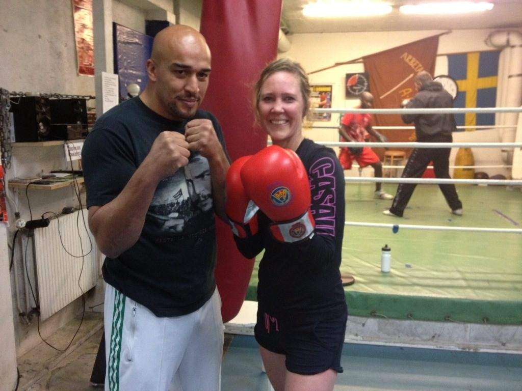 William Ngeusseu och Jenny Hagman boxas