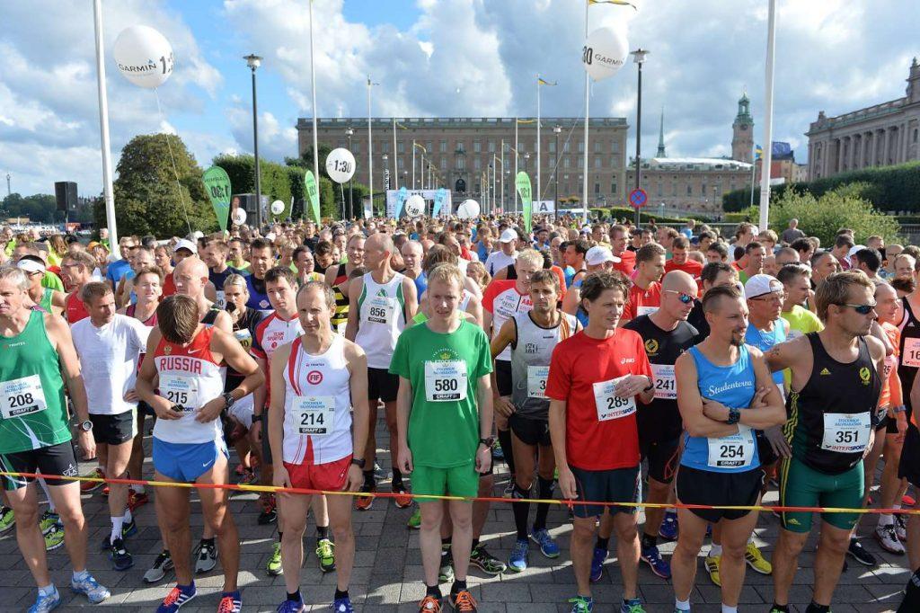 Startklara förväntansfulla löpare!