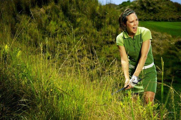 Jenny golfträning i ruffen
