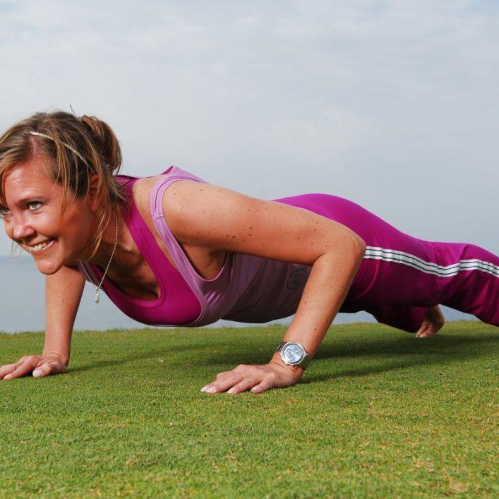 Jenny tränar bålstabilitet