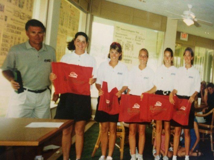 Det gick väldigt bra för vårt lag detta år (1995)och den här bilden är från vår första vinst, på River Wilderness i Sarasota.