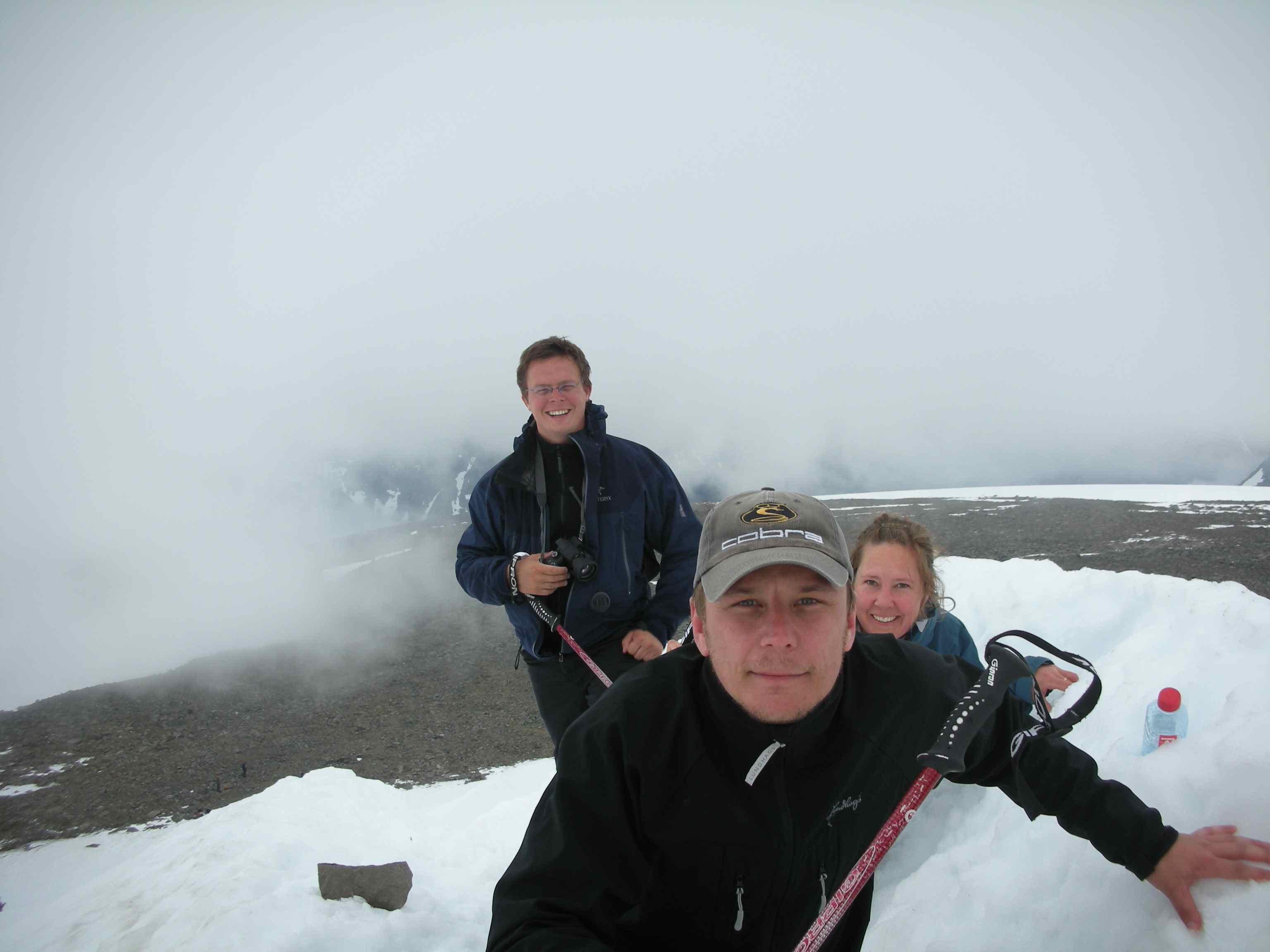 På toppen av Keb med Alex och Erik