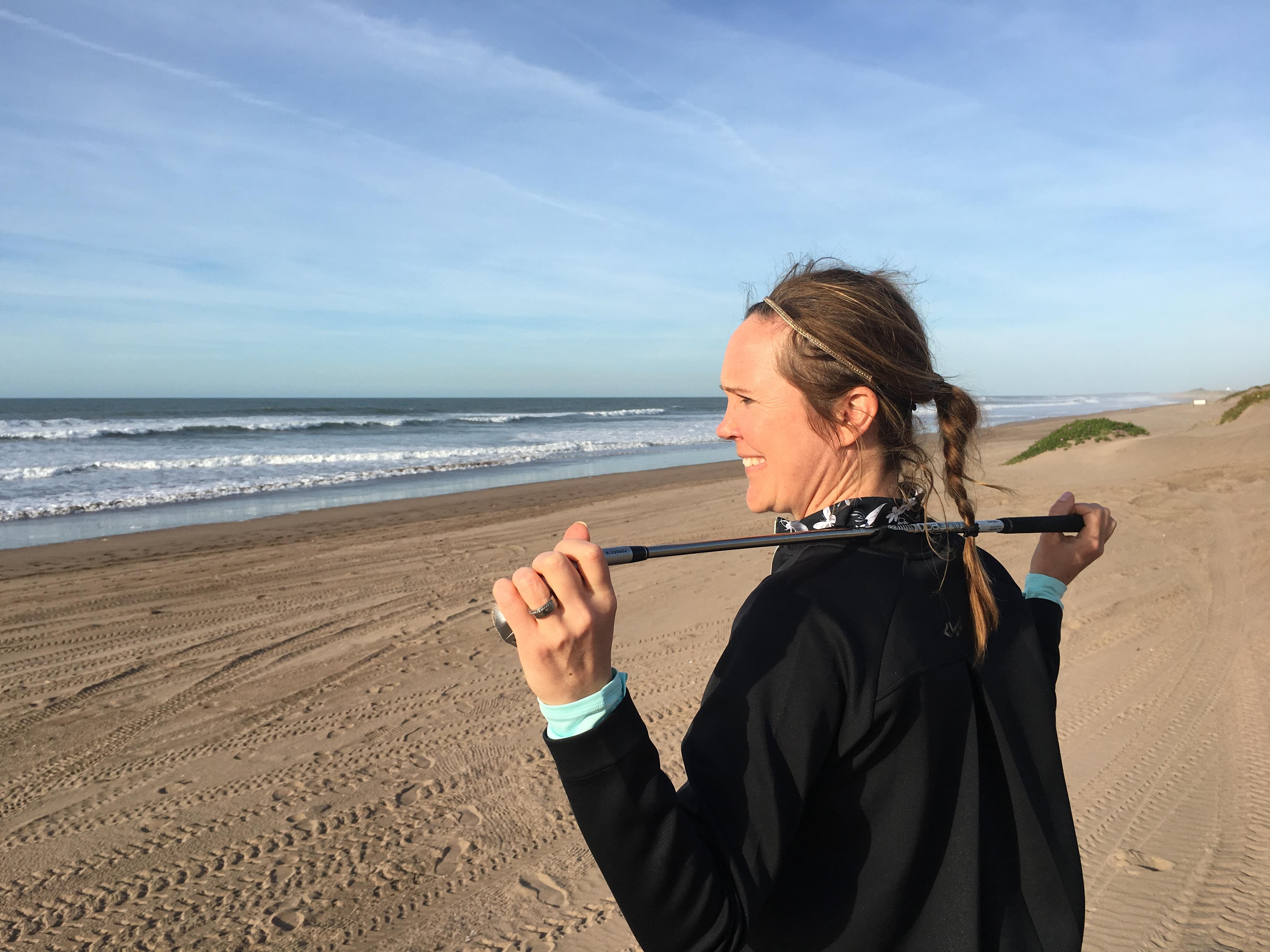 Jenny på stranden