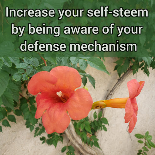 Increase your self-esteem by being aware of your defense mechanisms