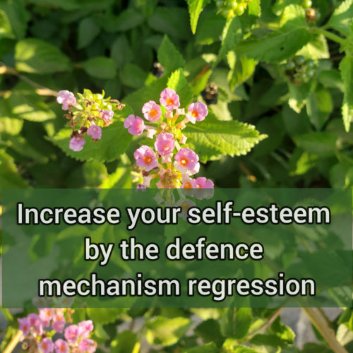 Increase your self-esteem by identifying the defense mechanism regression