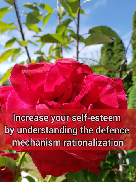 Increase your self-esteem by understanding the defense mechanism rationalization