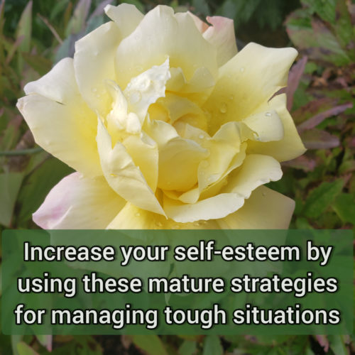 Increase your self-esteem by using these mature strategies for managing tough situations