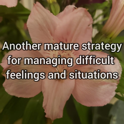 Another effective strategy for managing difficult fellings and situations