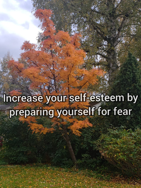 Increase your self-esteem by preparing yourself for fear