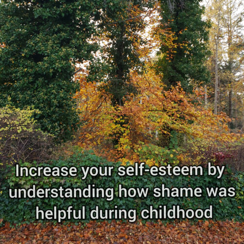 Increase your self-esteem by understanding how shame was helpful during childhood