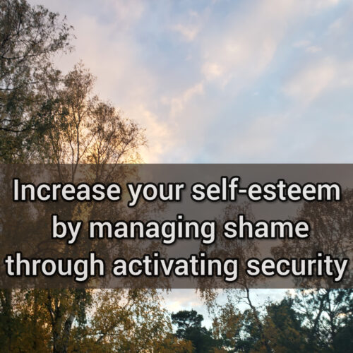 Increase your self-esteem by managing shame through activating security