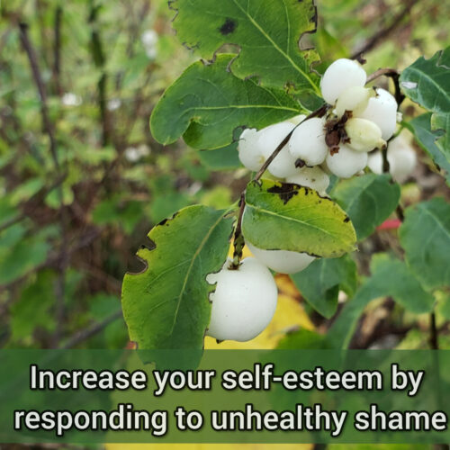 Increase your self-esteem by responding to unhealthy shame