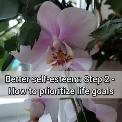 Better self-esteem: Step 2 - How to prioritize life goals