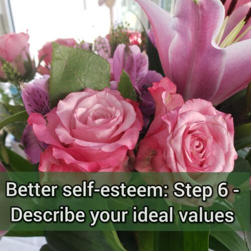 Better self-esteem: Step 6 - Describe your ideal values