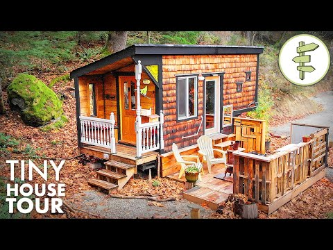 Pocket-Sized Tiny House with Main Floor Capsule Bedroom   FULL TOUR