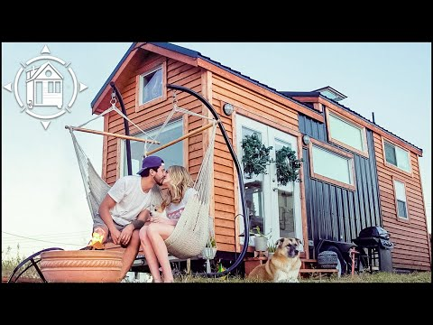 Young Couple's Gorgeous TINY HOUSE w/ a Sauna!!