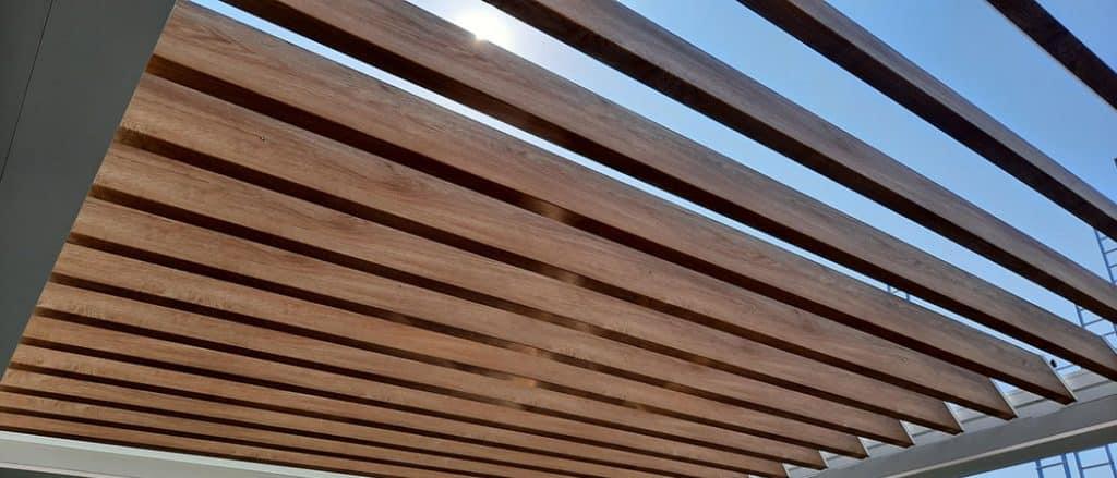 pergola biocimatique lames bois