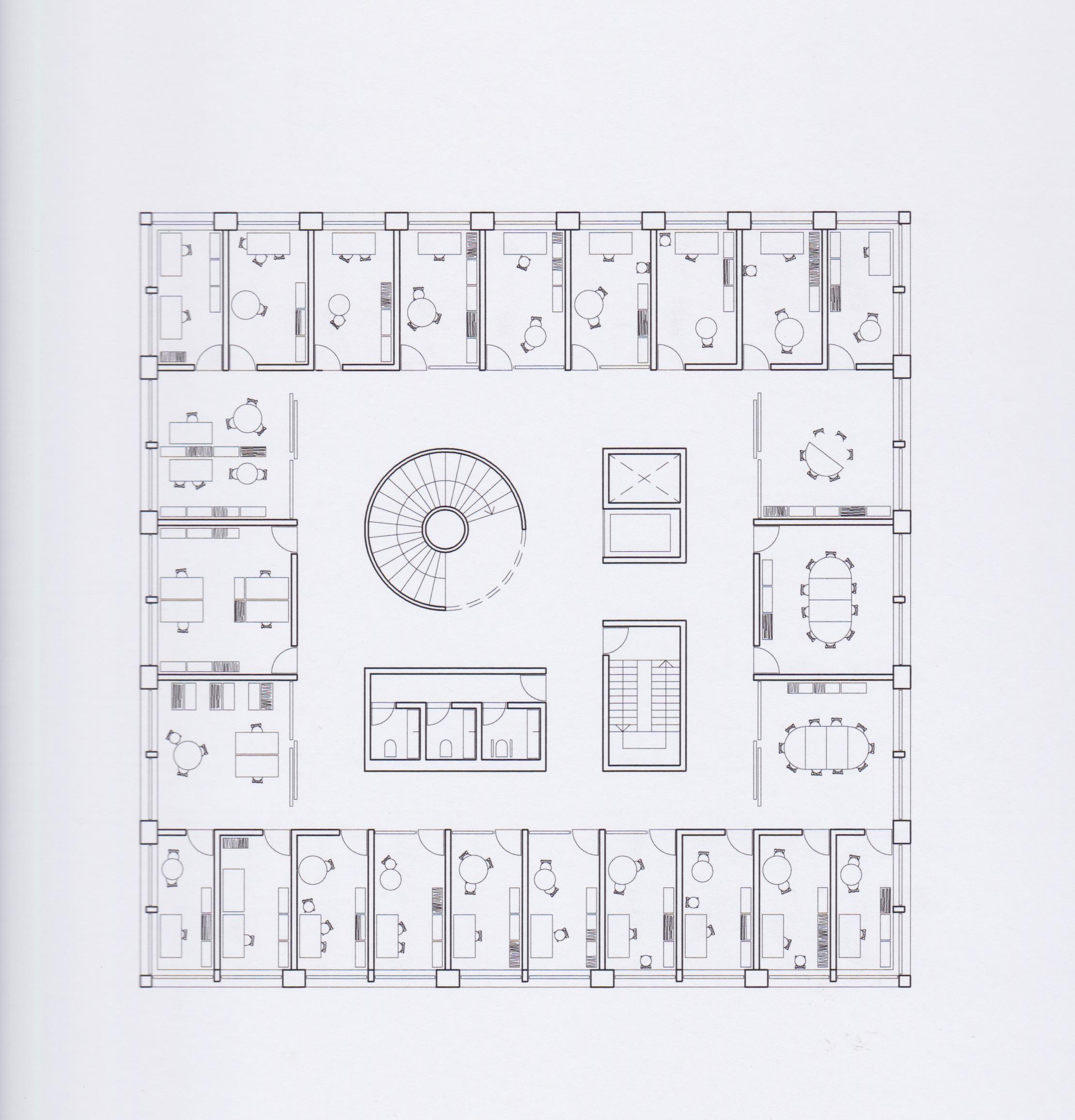 etageplan Tønder rådhus