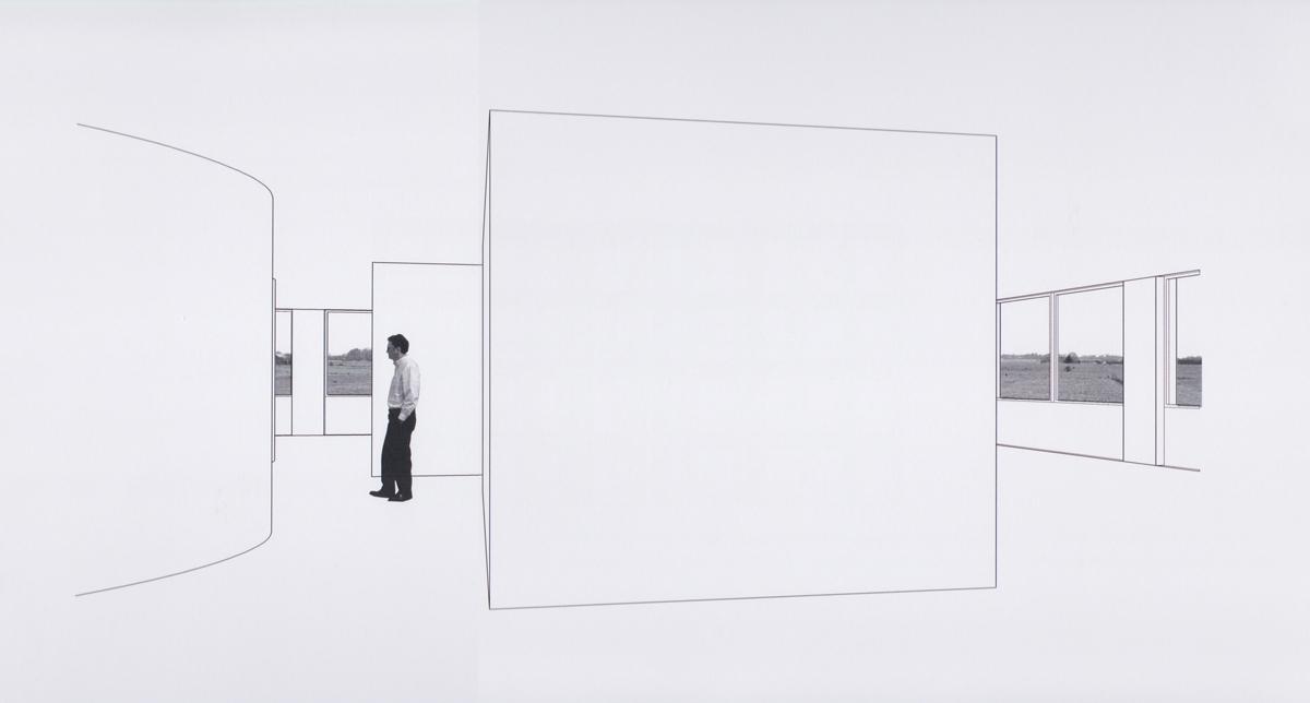 perspektiv af Tønder rådhus, interiør