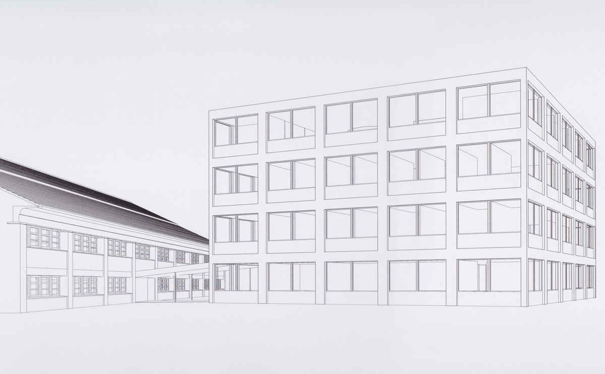 perspektiv af Tønder rådhus