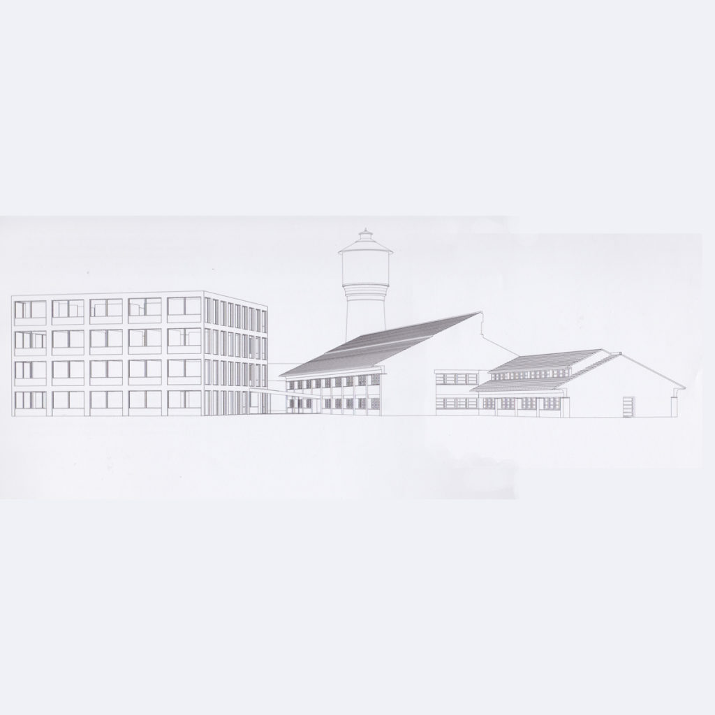 perspektivtegning af Tønder Rådhus