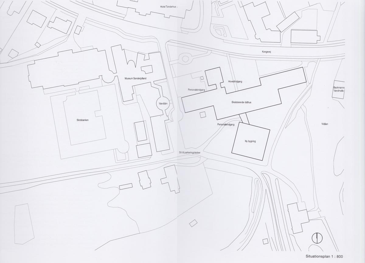 situationsplan af Tønder rådhus
