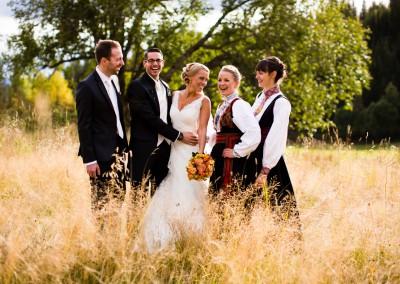 Bryllupsfotografering i Dalen